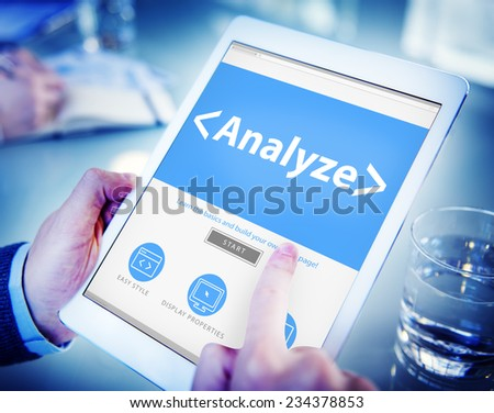 Digital Online Analyze Plan Research Working Concept - stock photo