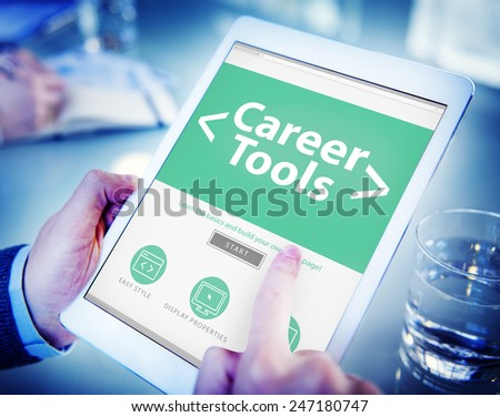 Digital Online Career Tools Employment Working Concept - stock photo