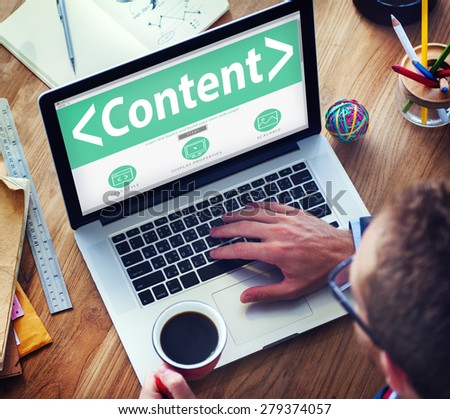 Digital Online Content Business Office Working Concept - stock photo