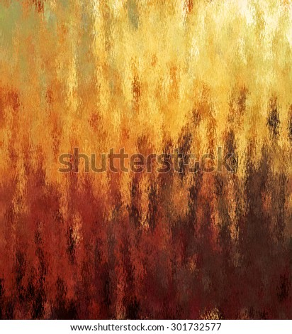 Digital Painting Spray Stroke Abstract Rustic Flame With
