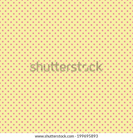 Digital Paper for Scrapbook Yellow Pink Polka dots Pattern Backgrounds seamless - stock photo
