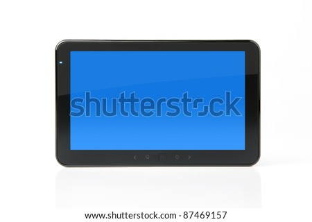 Digital PC tablet with clipping path for the screen - stock photo