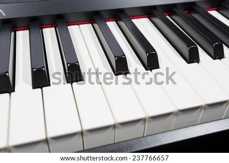 digital piano - stock photo