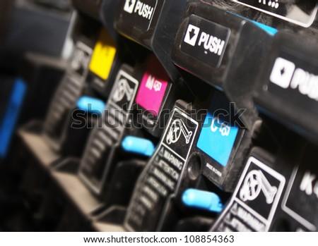 digital printing press - stock photo