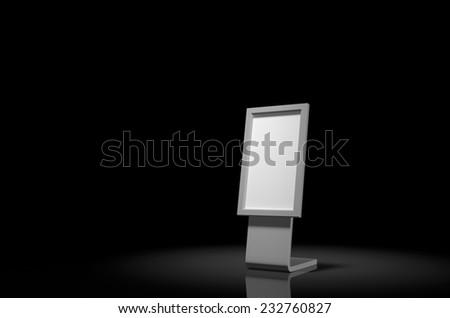 Digital Signage lighted up by the spotlight. - stock photo