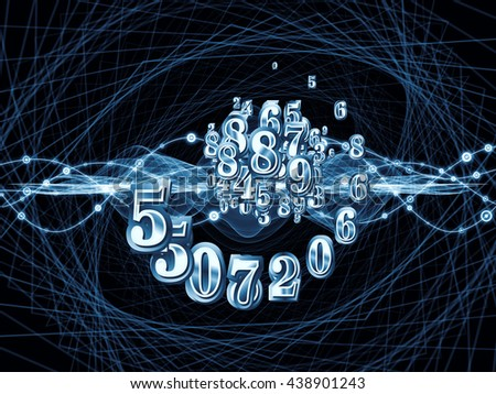 Digital Swirl series. Backdrop of digits and technological patterns on the subject of math, science and education - stock photo