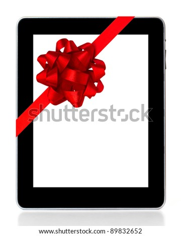 digital tablet as a gift - stock photo