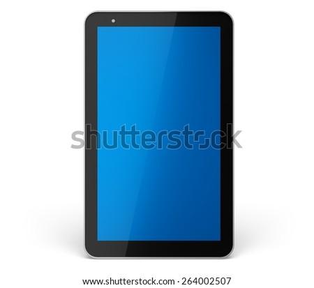 Digital Tablet. 3D. Tablet PC - stock photo