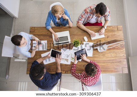 Digital technology surrounds us from everywhere - stock photo