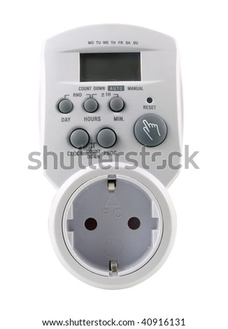 digital timer, energy saver - stock photo