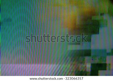 Digital TV broadcast glitch, television screen as technology background - stock photo