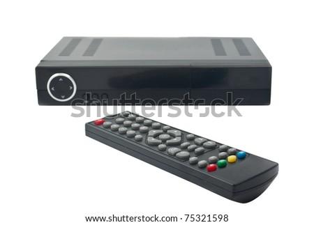 Digital TV on white background - stock photo