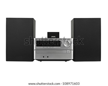 digital usb ,Tuner, cd player- clipping path - stock photo