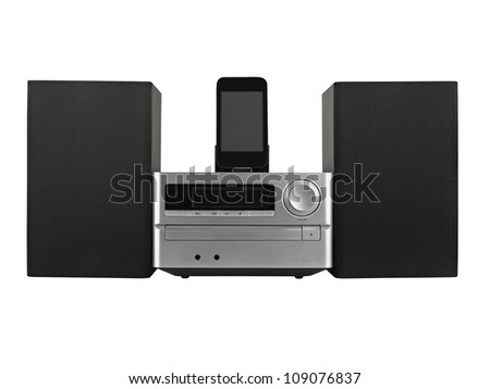 digital usb ,Tuner, cd playerand mp3 player- clipping path - stock photo