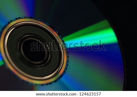 Digital Versatile Disk isolated on black background - stock photo
