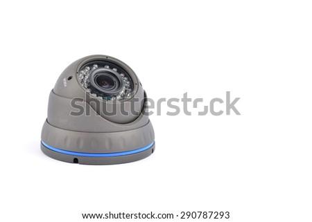 Digital Video Recorder and video surveillance dome cameras. - stock photo