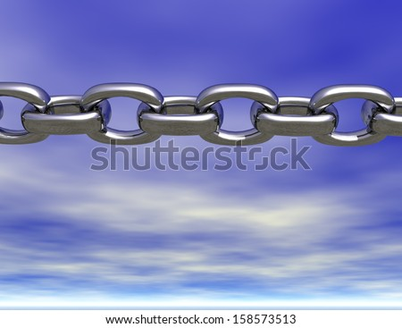 digital visualization of a chain - stock photo