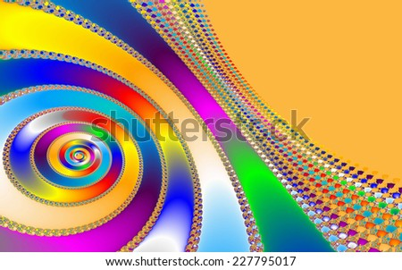 Digital visualization of a colourful fractal called Mandelbrot set. Mathematical Background - stock photo