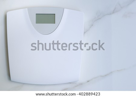 Digital Weight Scale, Scale, Bathroom digital Scale. - stock photo