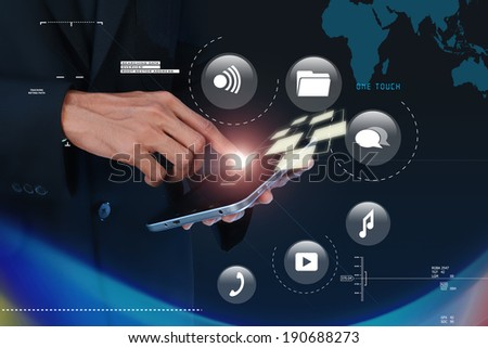 Digital world concept - stock photo