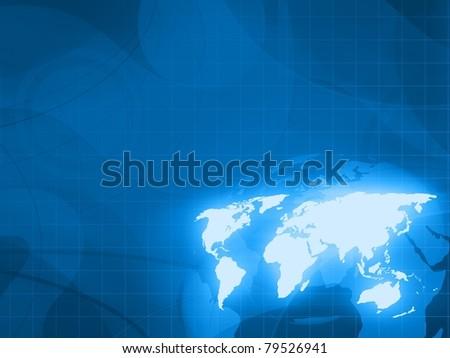 digital world technology background - stock photo