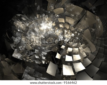 "Digitally created image ""Flipping Shredder"" - stock photo"