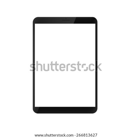 digitally created modern generic tablet pc - stock photo