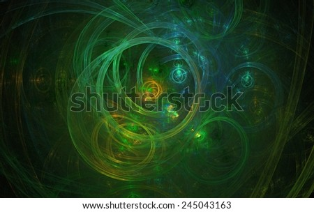 Digitally generated fractal texture of green color, abstract background. - stock photo