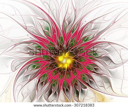 Digitally generated image made of colorful fractal to serve as backdrop for projects related to fantasy, creativity, imagination, art and web design. - stock photo