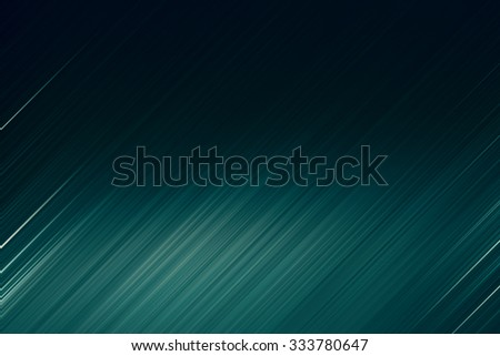 digitally generated image of blue light and stripes moving fast over black background - stock photo