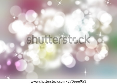 digitally generated image of colorful black background with beautiful twinkling bokeh - stock photo