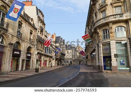 DIJON, FRANCE - JUNE 3, 2010:Old Town of Dijon, France. The city is the capital of the Burgundy region. - stock photo