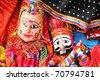 dilli haat, rajasthani puppet couple - stock photo