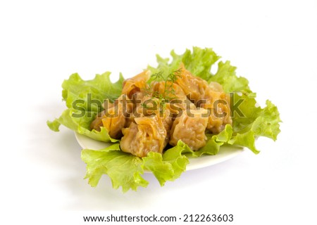 dim sum, yumcha, Chinese Steamed Dumpling. - stock photo