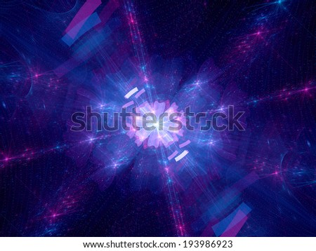 Dimensional wrap, computer generated fractal background - stock photo