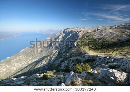 Dinaric mountains, Biokovo, Croatia. - stock photo