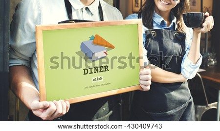 Diner Cook Book Meal Preparation Concept - stock photo