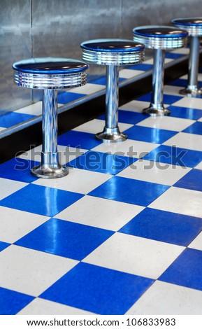 Diner Stools - stock photo