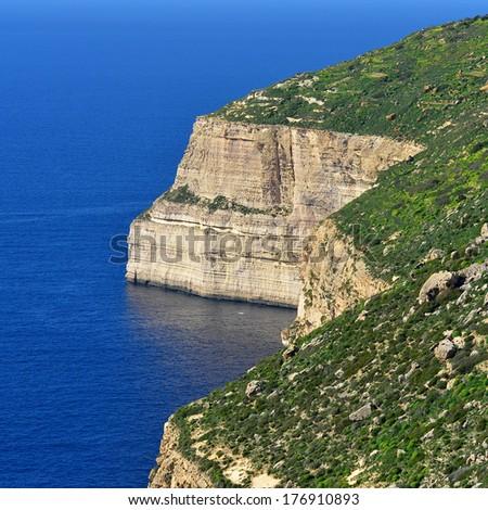 Dingli cliffs,Malta - stock photo