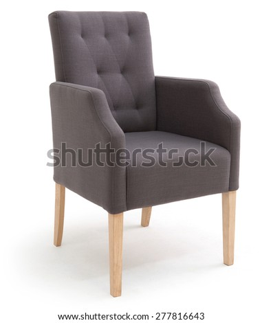 Dining chair with armrests - stock photo