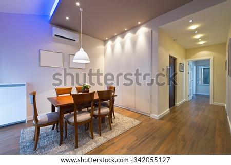 Dining room interior - stock photo