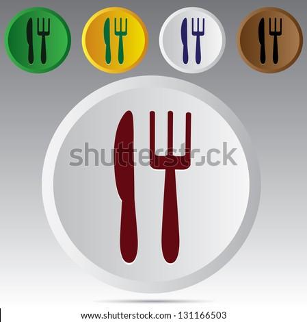 Dining symbol - stock photo