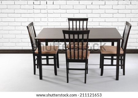 Dining table. - stock photo