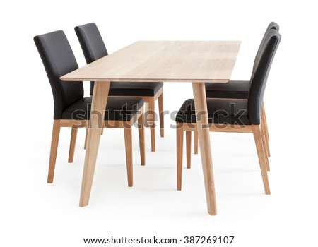 Dining Table and Chairs - stock photo