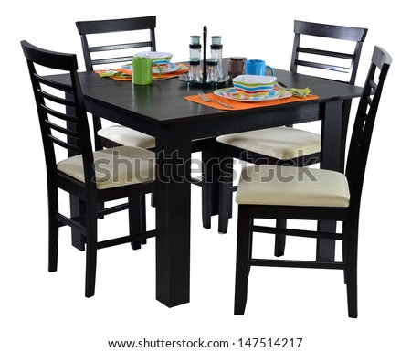 Dining table. Isolated - stock photo