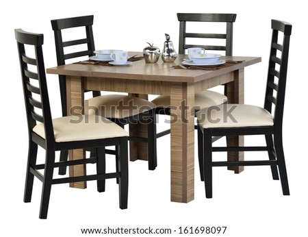 Dining table isolated. - stock photo