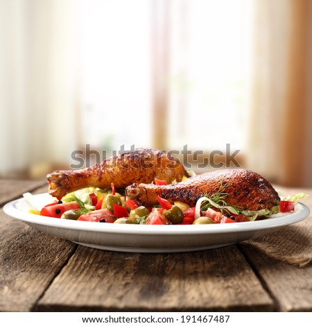 dinner food  - stock photo