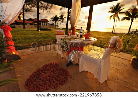 Dinner for you and me - stock photo
