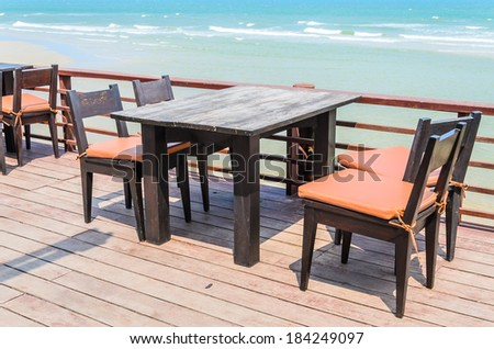 Dinner on the beach - stock photo