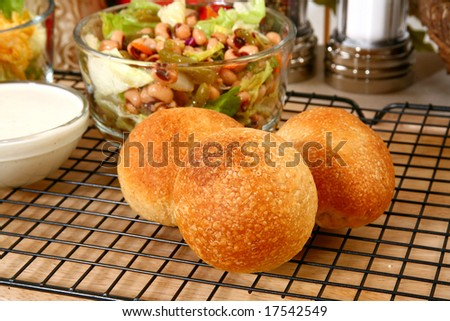 Dinner rolls in kitchen or restaurant - stock photo